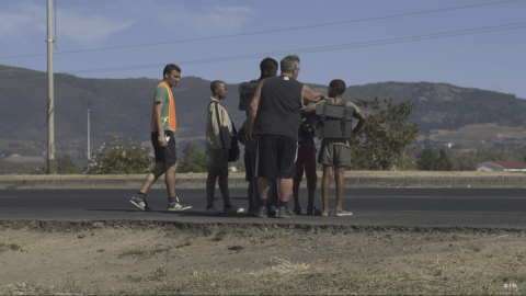 Preparing the highway crossing scene - Save Kids Lives - A film directed by Luc Besson - #SAVEKIDSLIVES - FIA foundation